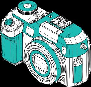 camera teal
